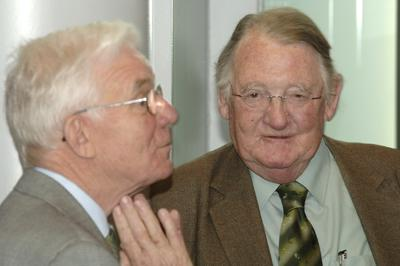 Dr Stephen Lock and Professor Sir Christopher Booth at the Witness Seminar on 'Medical Ethics Education in Britain, 1963–1993' on 9 May 2006