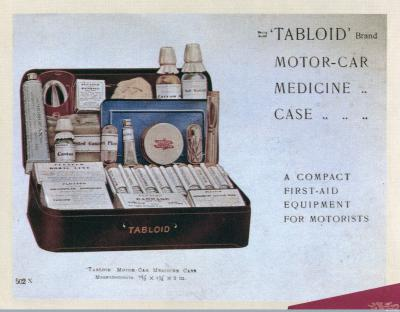 A Tabloid motor-car medicine case, c.1920. Courtesy of the Wellcome Library, London.