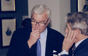 Professor Robert Smith, Professor Sir Colin Berry at the Witness Seminar on Environmental Toxicology held by The History of Twentieth Century Medicine Group, 12/03/2002