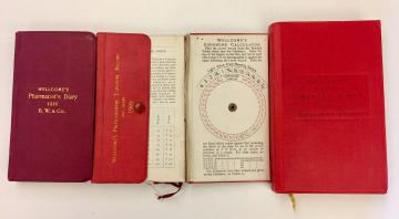 Fig 1 Pharmacist's diary 1910; Photographer's diary 1909; Nurse's diary 1921-22